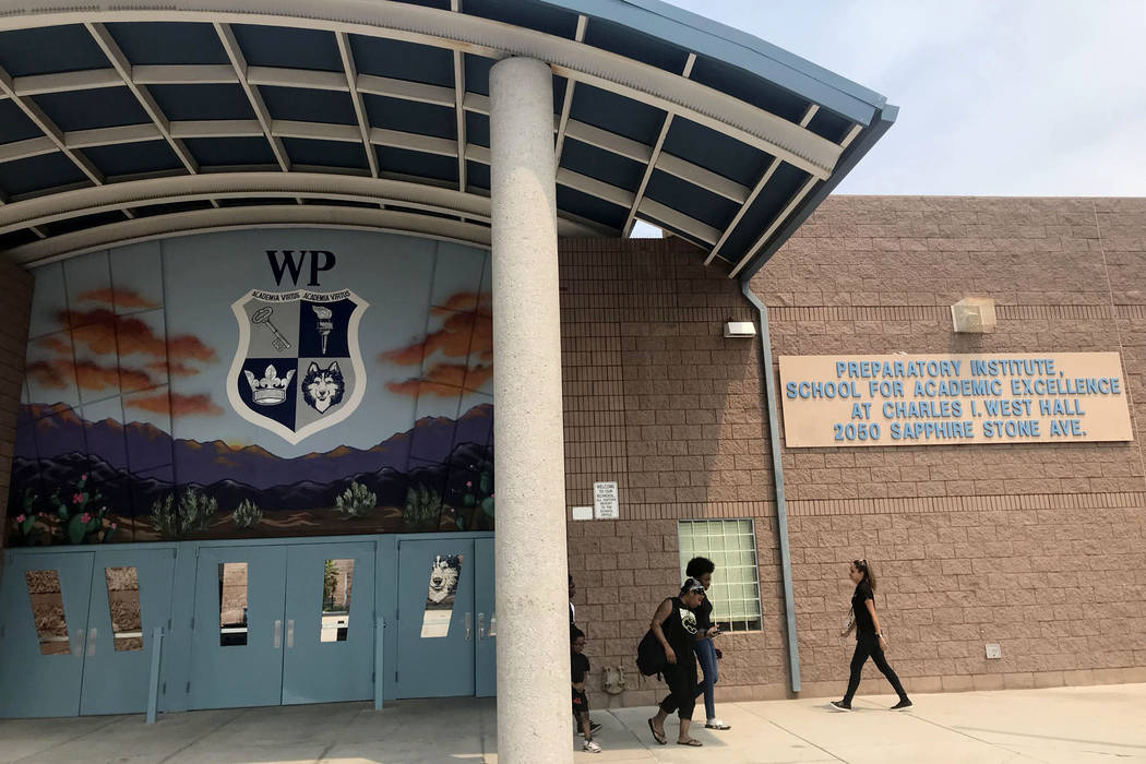 West Prep Academy is seen in Las Vegas, Thursday, Aug. 9, 2018. (Amelia Pak-Harvey Las Vegas Review-Journal)