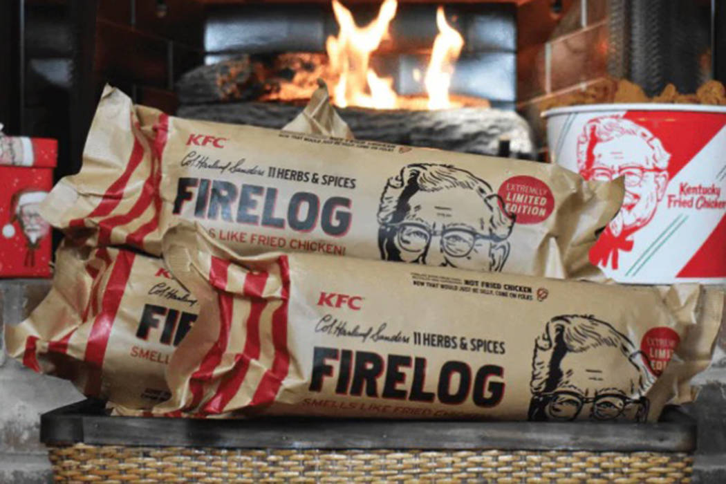 KFC announced on Thursday the company is selling a firelog that smells like fried chicken. (KFC)