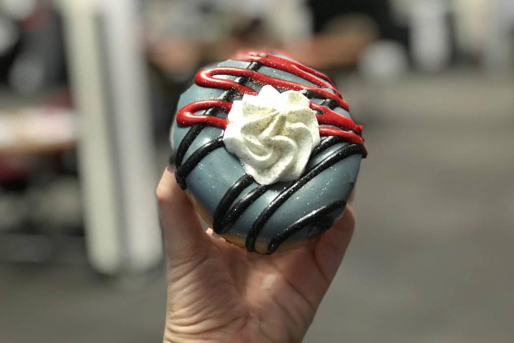 Krispy Kreme launches a Golden Knights doughnut. (courtesy)