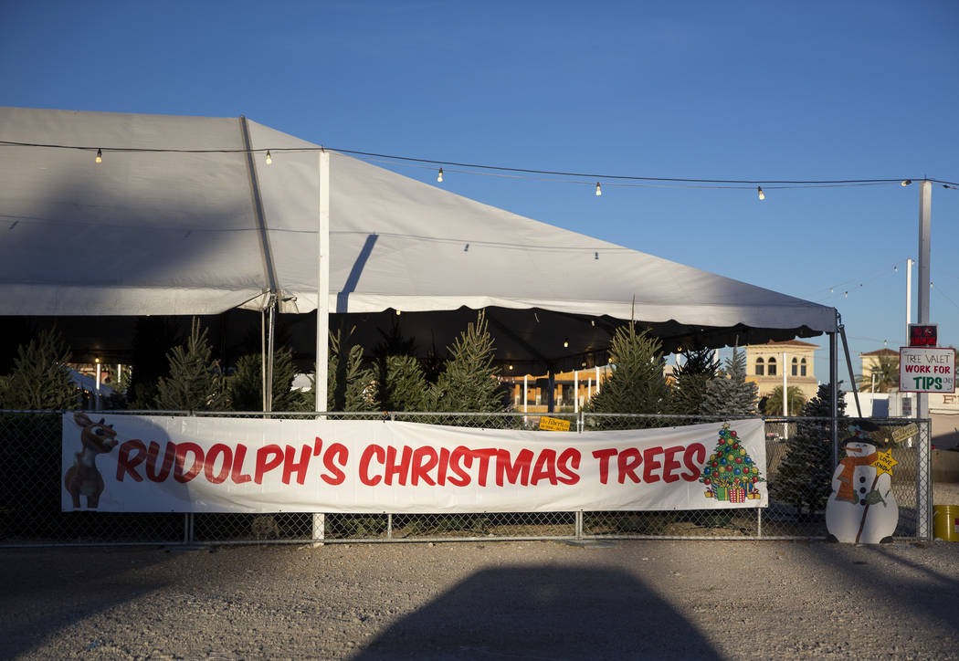 Rudolph's Christmas Trees located at 510 S. Rampart Boulevard in Las Vegas on Wednesday, Dec. 12, 2018. Richard Brian Las Vegas Review-Journal @vegasphotograph