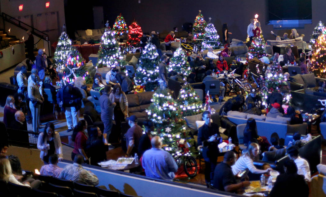 "An event hosted by HOPE for Prisoners and the Nevada Department of Corrections that set up 50 ""living rooms"" for Christmas at The Crossing Church in Las Vegas, Thursday, Dec. 13, 2018. S ..."
