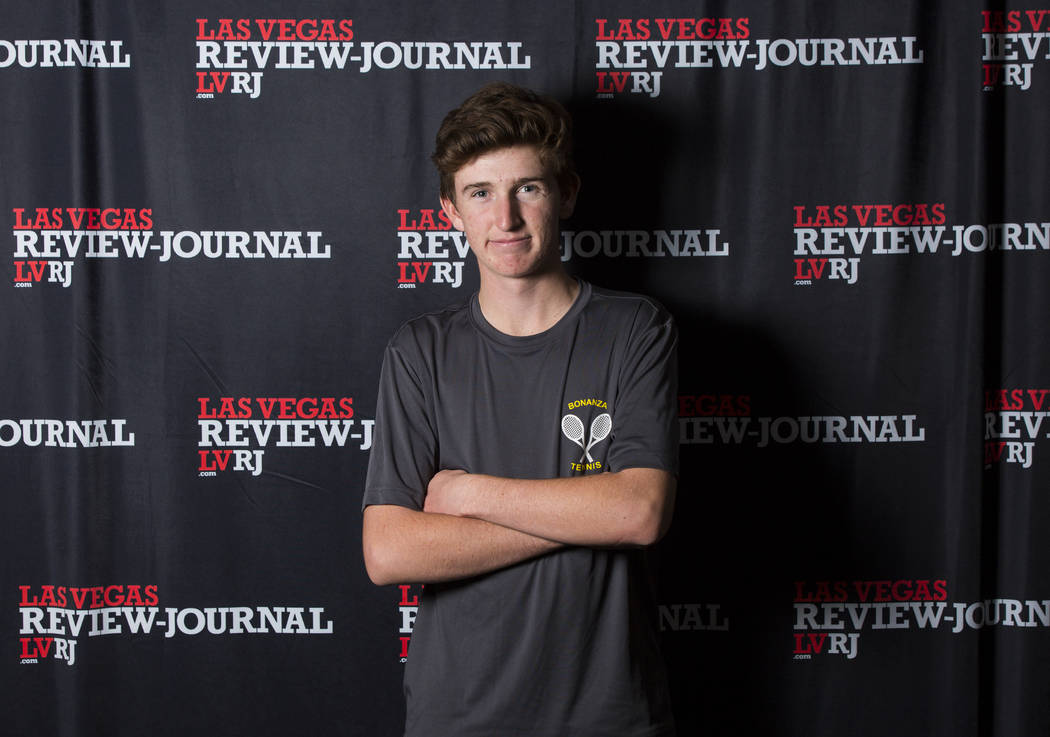 Bonanza's Chase Kasday is a member of the Nevada Preps all-state boys tennis team.