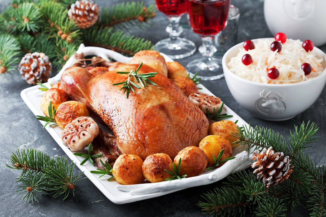 Christmas roast duck with baked potatoes (Getty Images)