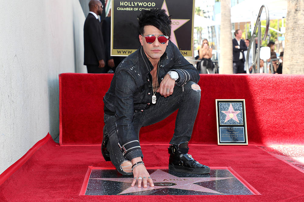 Las Vegas headliner Criss Angel got a star on the Hollywood Walk of Fame honoring July 20 next to the Hollywood Roosevelt Hotel on Hollywood Boulevard. (Chelsea Lauren)