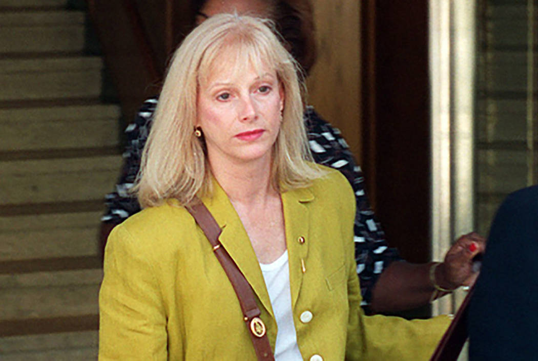 In this Sept. 11, 1996 file photo, Sondra Locke leaves court in Burbank, Calif., after opening statements in a civil suit against Locke's former live-in boyfriend, Clint Eastwood. (AP Photo/John ...
