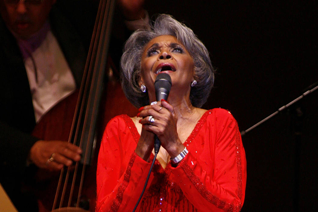 In this June 29, 2007 file photo, singer Nancy Wilson, performs at her Swingin' 70th Birthday Party at Carnegie Hall in New York. Grammy-winning jazz and pop singer Wilson has died at age 81. Her ...
