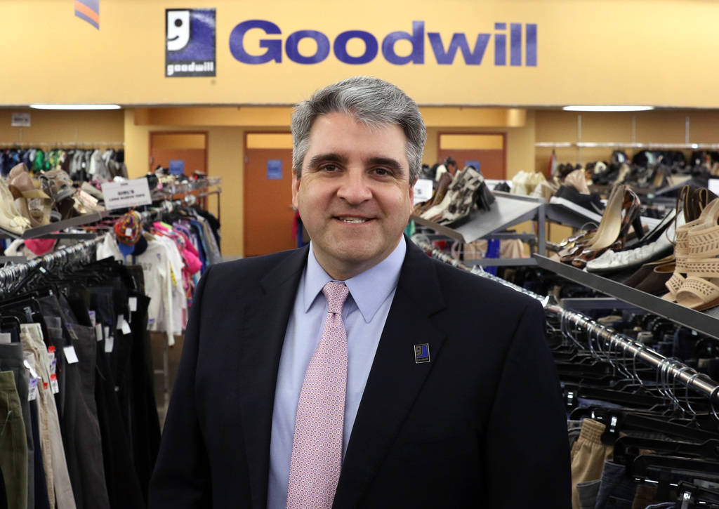 Goodwill Southern Nevada CEO John Helderman poses for a photo at Goodwill Thrift Store at 9385 W. Flamingo Road on Friday, Dec, 14, 2018, in Las Vegas. Bizuayehu Tesfaye Las Vegas Review-Journal @ ...