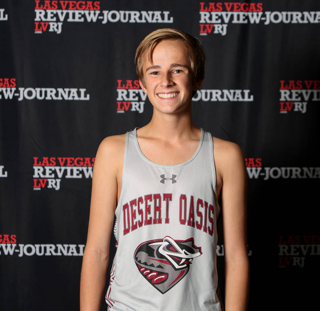 Desert Oasis' Landon Morrison is a member of the Nevada Preps all-state boys cross country team.
