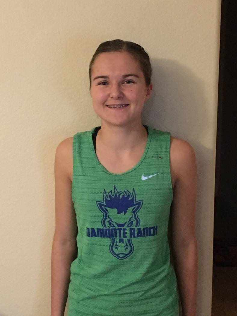 Damonte Ranch's Carley Legenbauer is a member of the Nevada Preps all-state girls cross country team.