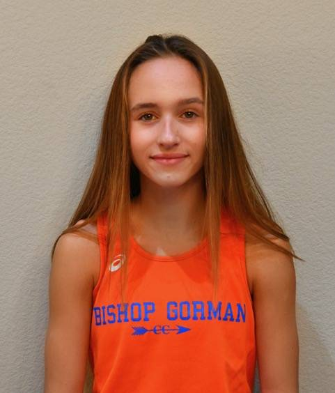 Bishop Gorman's Emilia Puskas is a member of the Nevada Preps all-state girls cross country team.