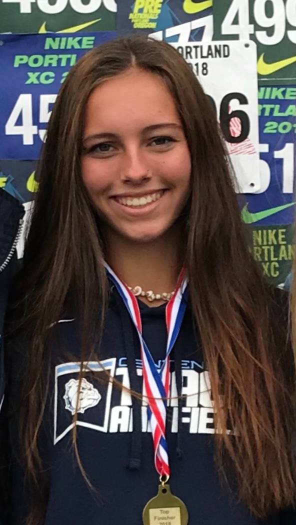 Centennial's Josephine Ruggieri is a member of the Nevada Preps all-state girls cross country team.