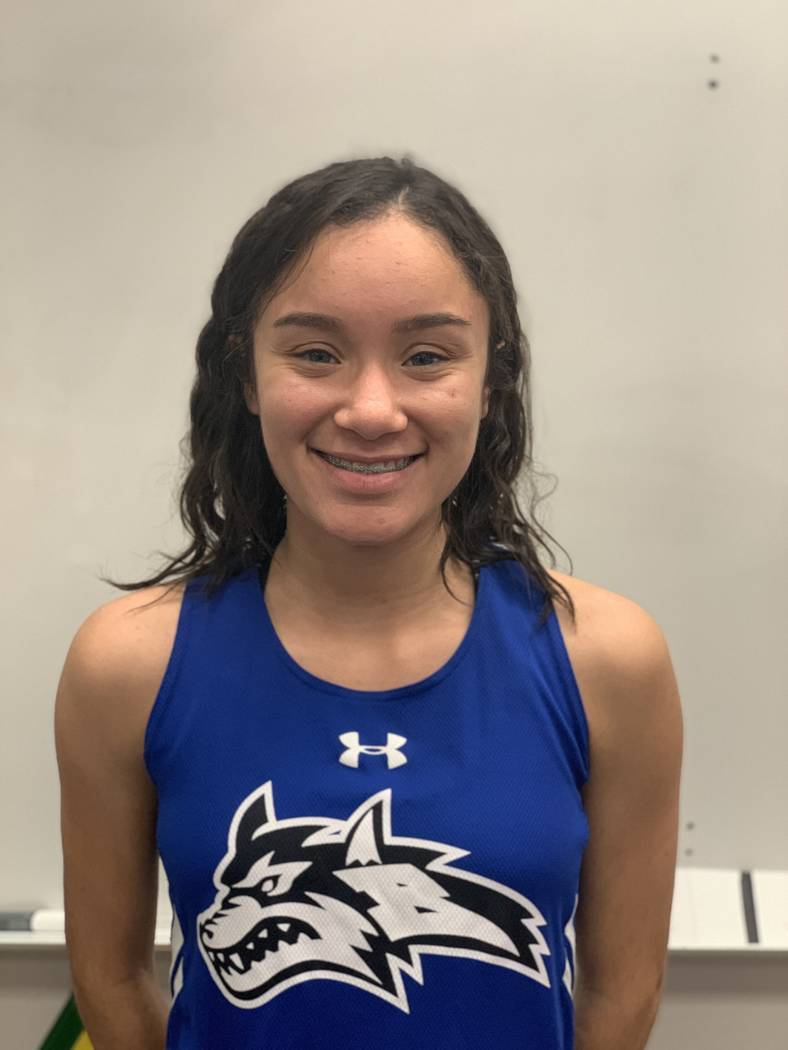 Basic's Raquel Chavez-Velazquez is a member of the Nevada Preps all-state girls cross country team.