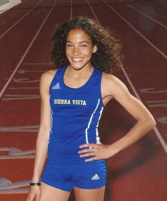 Sierra Vista's Sarriah Brown is a member of the Nevada Preps all-state girls cross country team.