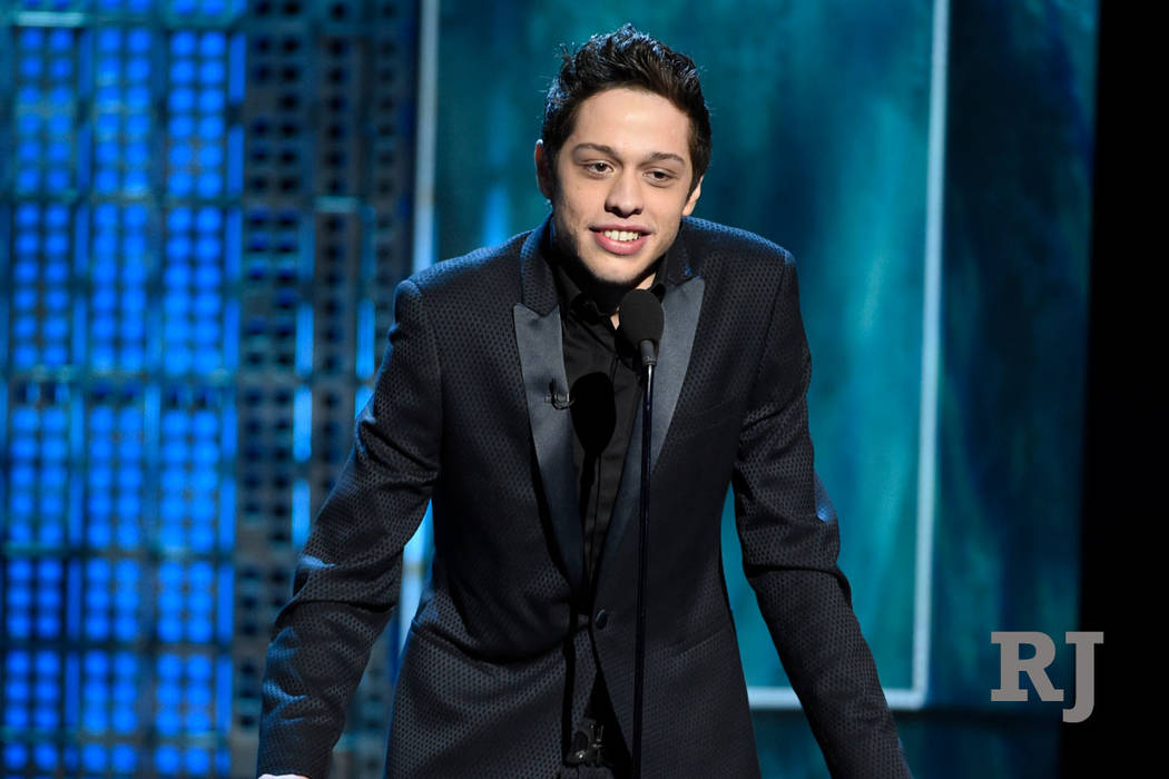 "In this March 14, 2015, file photo, Pete Davidson speaks at a Comedy Central Roast at Sony Pictures Studios in Culver City, Calif. New York police were concerned about Davidson after he wrote ""I d ..."
