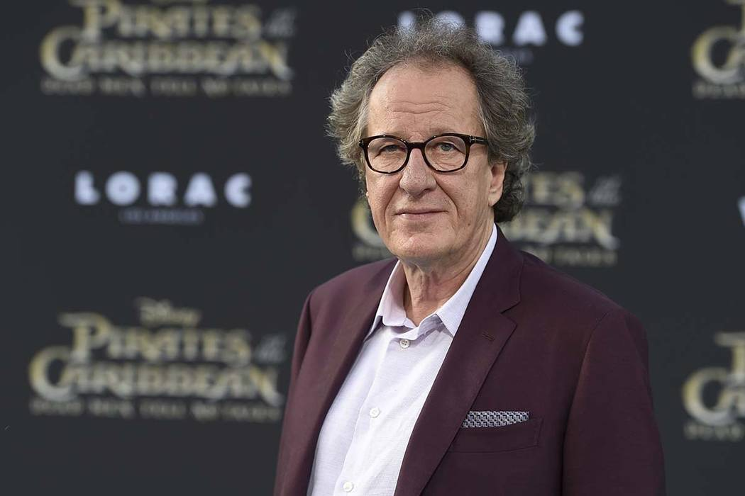 "In this May 18, 2017, file photo, Geoffrey Rush arrives at the Los Angeles premiere of ""Pirates of the Caribbean: Dead Men Tell No Tales"" at the Dolby Theatre. ""Orange Is the New Black"" actres ..."