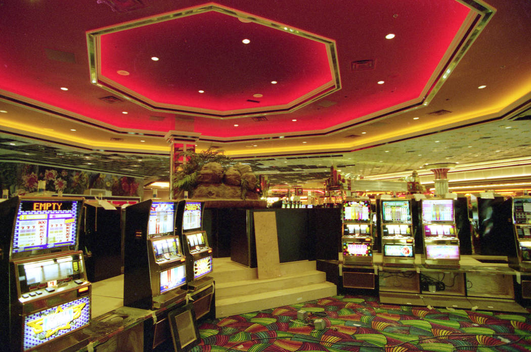 The MGM Grand casino floor is shown during a pre opening tour in November 1993. (Las Vegas Review-Journal file)