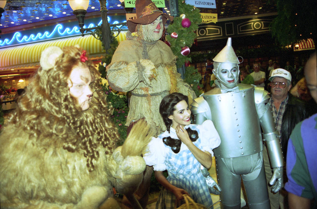 "Characters from the movie ""The Wizard of Oz"" attended the grand opening of MGM Grand on Dec. 18, 1993. MGM Grand was the world's largest hotel and casino at this time and Las Vegas' firs ..."