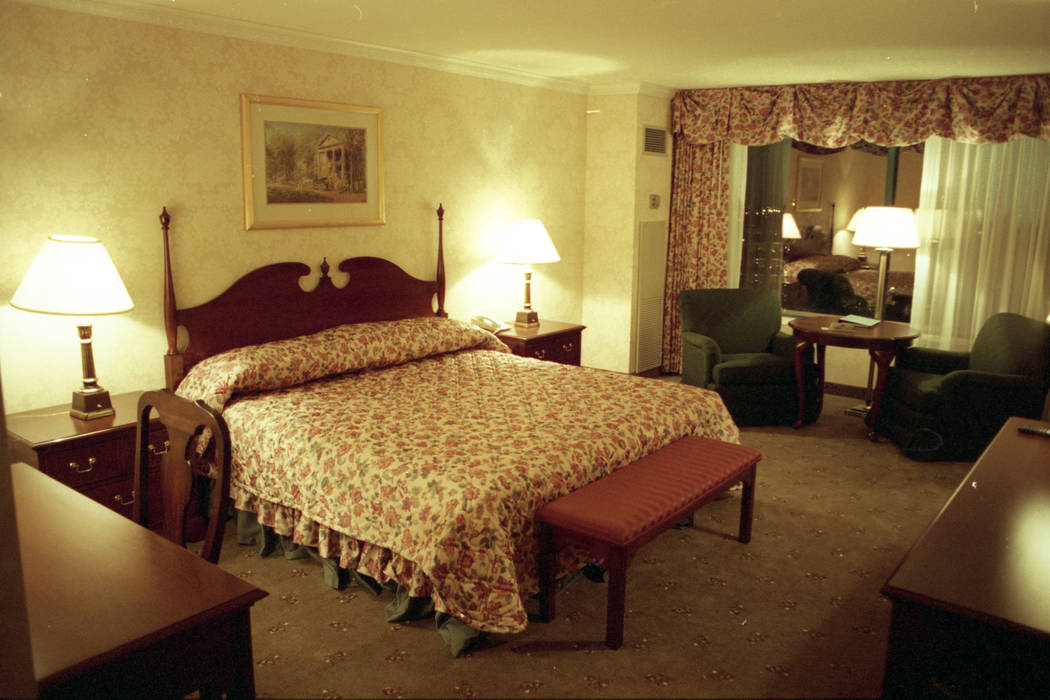 "A room in the Deep South tower with a ""Gone With the Wind"" theme at MGM Grand pictured in December 1993. (Las Vegas Review-Journal file)"