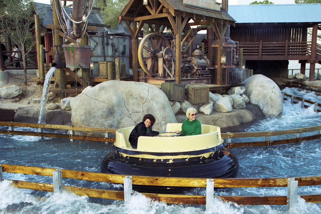 The Grand Canyon Rapids raft ride at MGM Grand Adventures Theme Park. The park opened to the public on Dec. 18, 1993. (Las Vegas Review-Journal file)