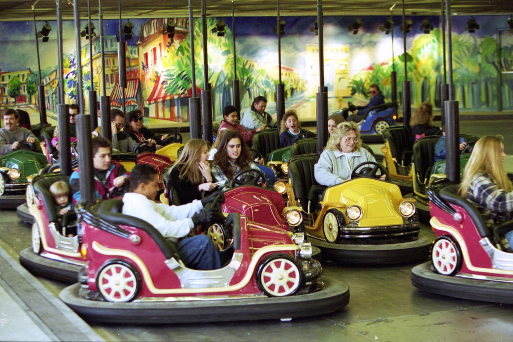 Bumper cars at MGM Grand Adventures Theme Park. The park opened to the public on Dec. 18, 1993. (Las Vegas Review-Journal file)
