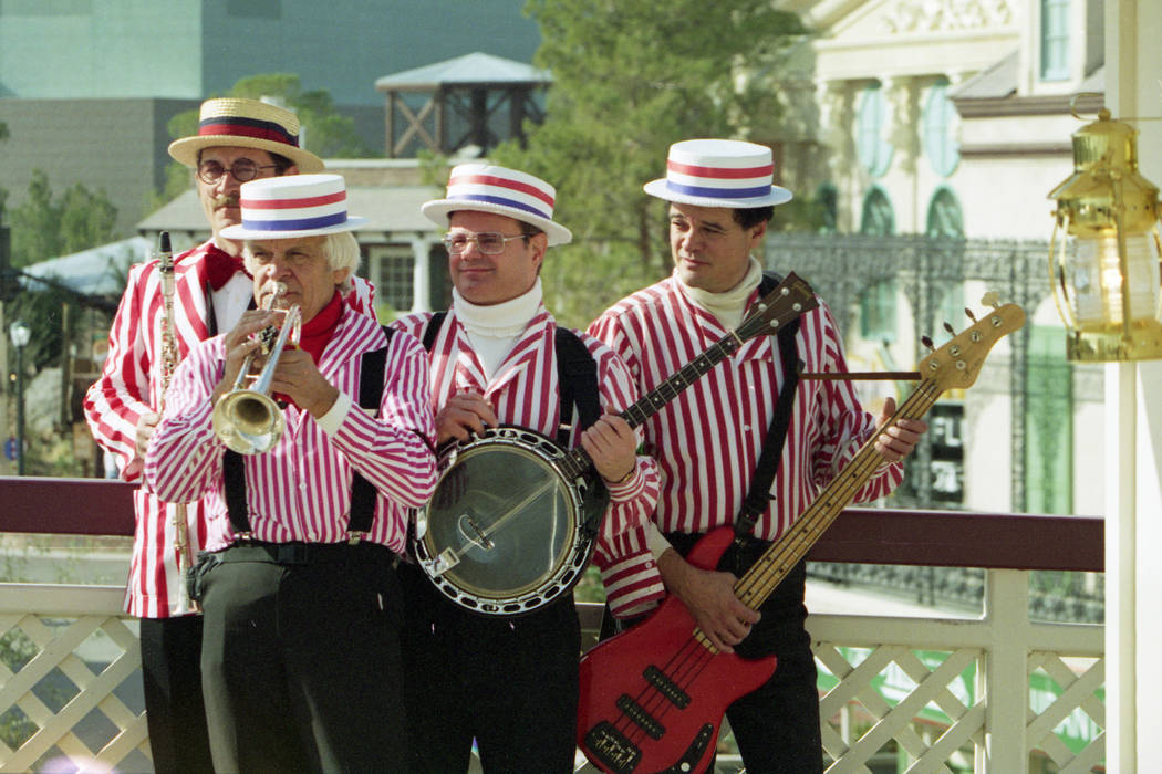 A band plays at MGM Grand Adventures Theme Park. The park opened to the public on Dec. 18, 1993. (Las Vegas Review-Journal file)