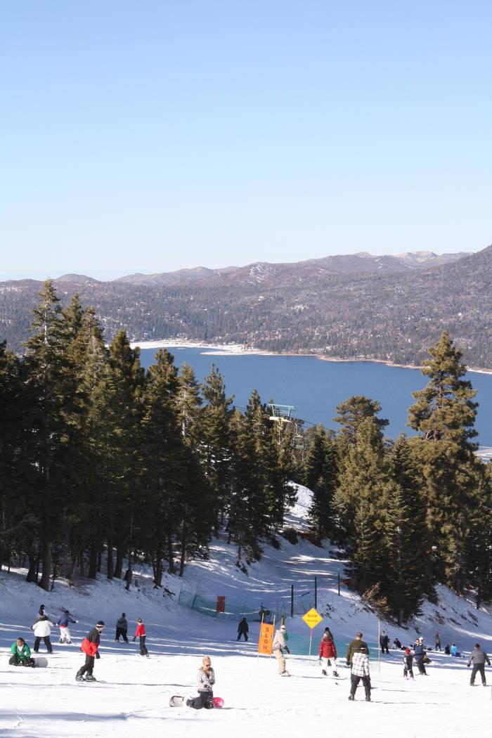 Snow Summit Resort offers fine views of Big Bear Lake, Calif. (Deborah Wall/Las Vegas Review-Journal)