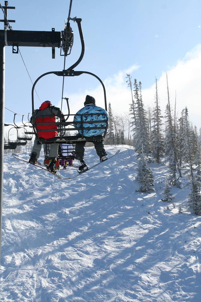 Brian Head Resort, Utah, base elevation of 9,600 feet, is the highest base resort in Utah. (Deborah Wall/Las Vegas Review-Journal)