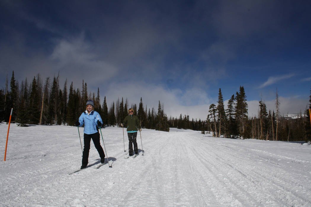 Cedar Breaks National Monument is only a ten minute drive from Brian Head and offers a groomed trail to a winter yurt for cross country skiers. (Deborah Wall/Las Vegas Review-Journal)