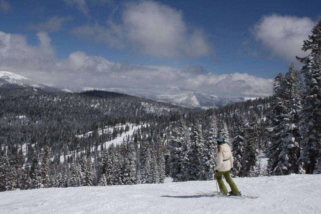 Northstar Resort, Calif. boasts 3,170 acres of terrain with 100 trails and fifteen lifts. (Deborah Wall/Las Vegas Review-Journal)