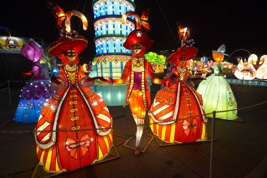 Illuminated lanterns on display at the Global Winter Wonderland lantern festival at the Rio in Las Vegas on Wednesday, Dec. 19, 2018. Richard Brian Las Vegas Review-Journal @vegasphotograph