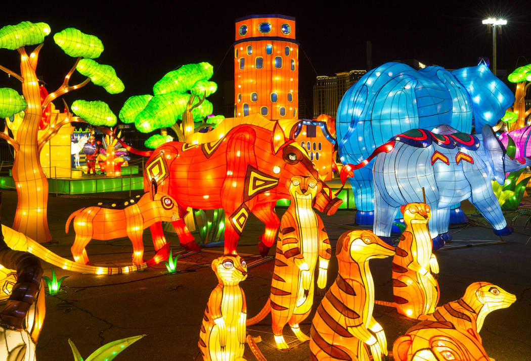 The Animal Kingdom display at the Global Winter Wonderland lantern festival at the Rio in Las Vegas on Wednesday, Dec. 19, 2018. Richard Brian Las Vegas Review-Journal @vegasphotograph