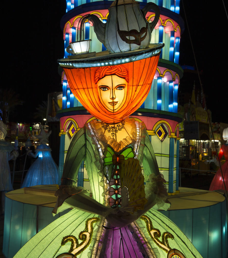An illuminated lantern on display at the Global Winter Wonderland lantern festival at the Rio in Las Vegas on Wednesday, Dec. 19, 2018. Richard Brian Las Vegas Review-Journal @vegasphotograph