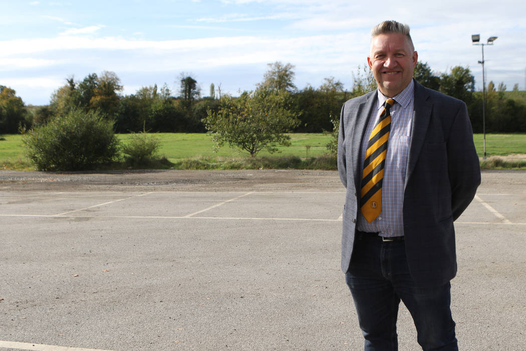 Cray Wanderers chairman Gary Hillman stands on land that could be the future home of his soccer club in London, England, Friday, Oct. 12, 2018. Heidi Fang Las Vegas Review-Journal @HeidiFang
