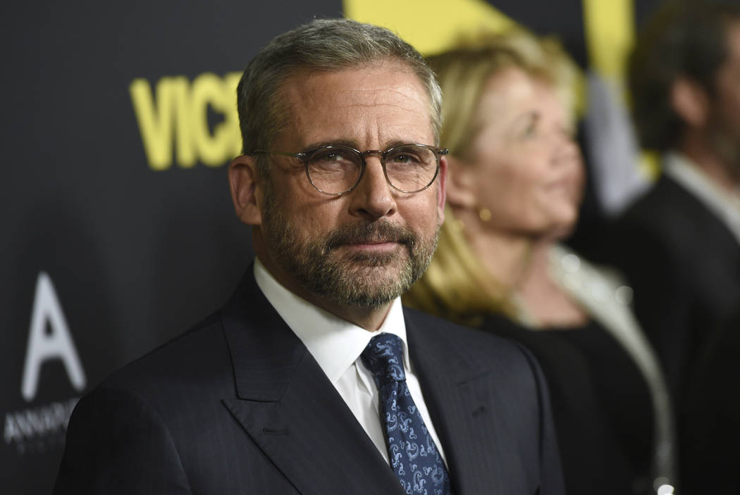 """Steve Carell arrives at the world premiere of """"Vice"""" on Tuesday, Dec. 11, 2018, at the Samuel Goldwyn Theater in Beverly Hills, Calif. (Chris Pizzello/Invision/AP)"""