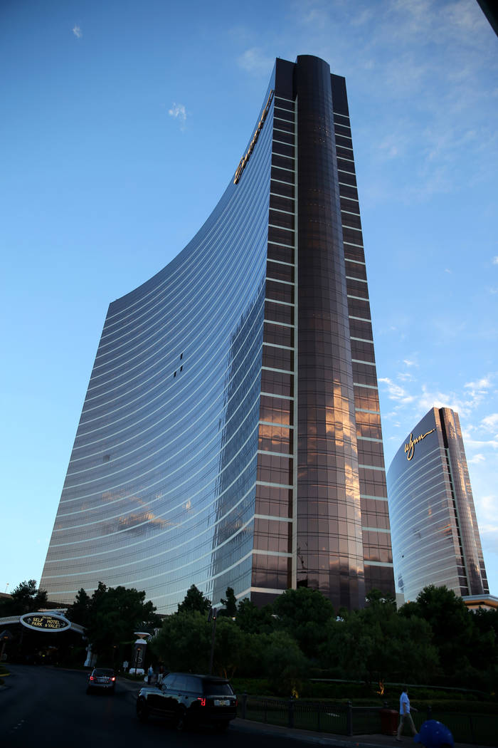 Wynn Las Vegas, right, and Encore on the Strip in Las Vegas Wednesday, Oct. 3, 2018. K.M. Cannon Las Vegas Review-Journal @KMCannonPhoto