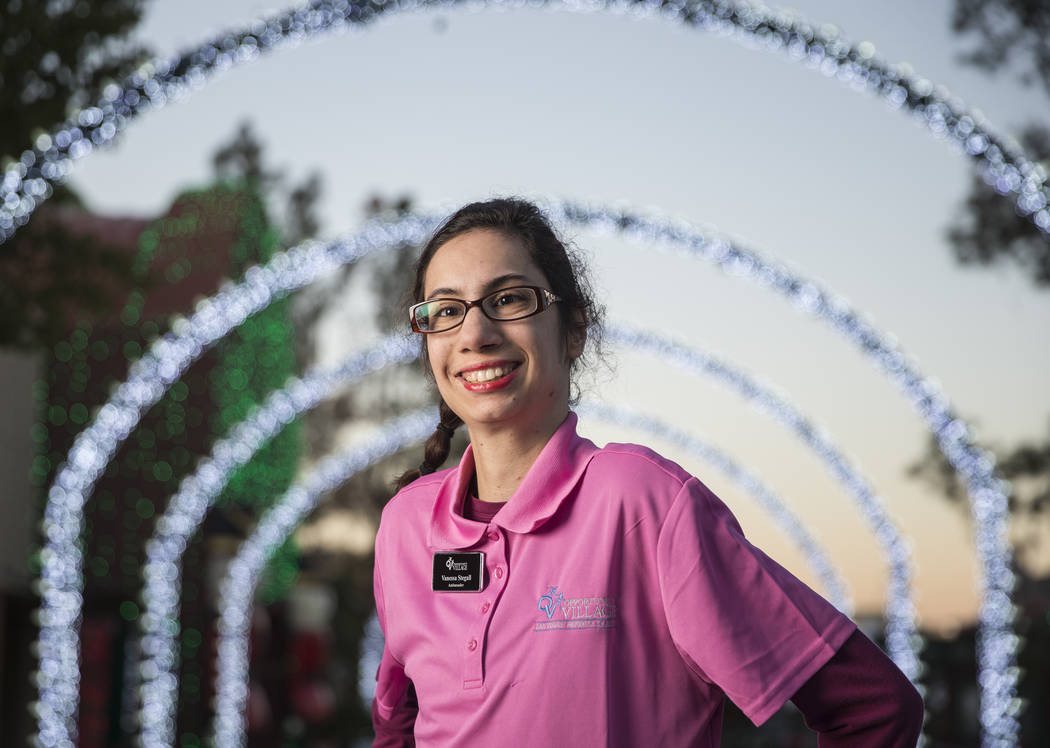Vanessa Stegall at Opportunity Village's Magical Forest on Thursday, Dec. 13, 2018, in Las Vegas. Benjamin Hager Las Vegas Review-Journal