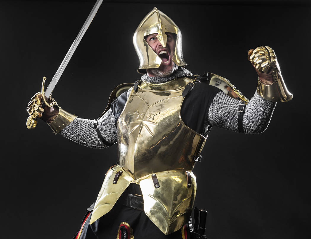 Lee Orchard, the Golden Knight, at the Review-Journal studio on Friday, Dec. 14, 2018, in Las Vegas. Benjamin Hager Las Vegas Review-Journal