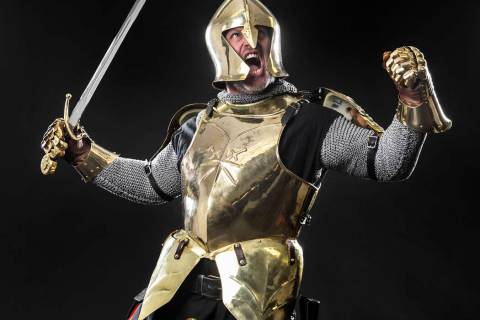 Lee Orchard, the Golden Knight, at the Review-Journal studio on Friday, Dec. 14, 2018, in Las V ...