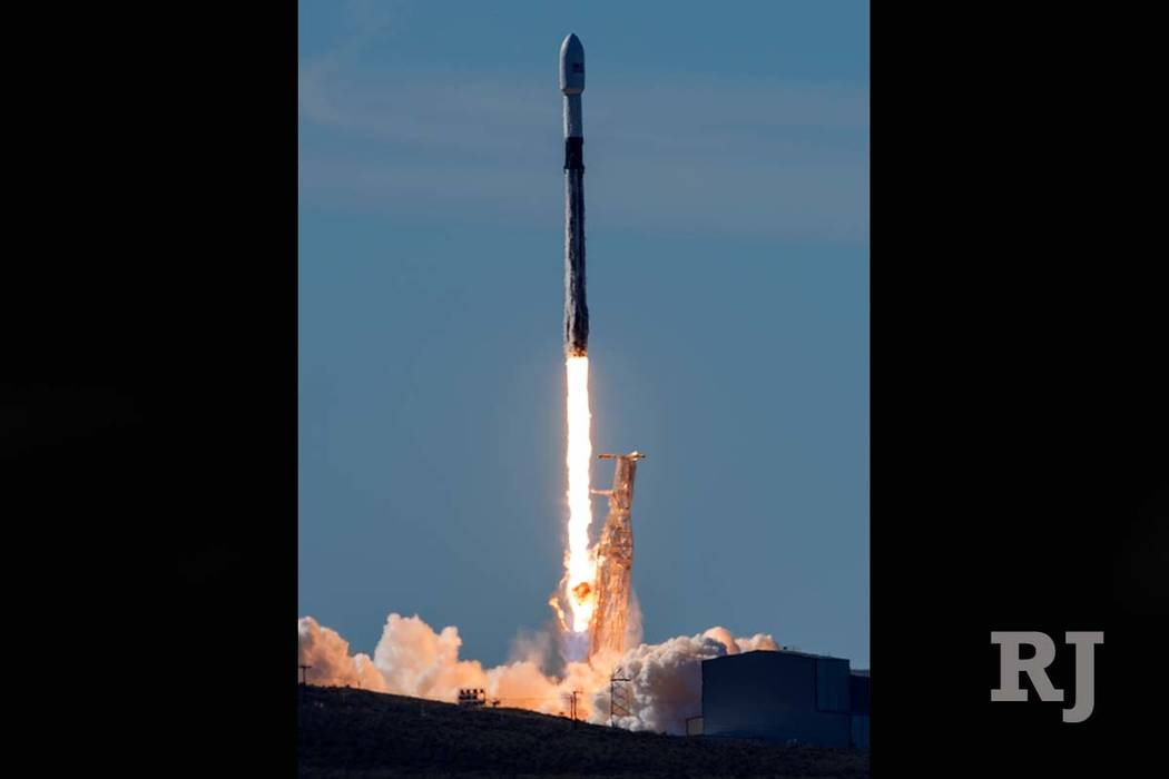 In this photo provided by the U.S. Air Force, a SpaceX Falcon 9 rocket, carrying the Spaceflight SSO-A: SmallSat Express, launches from Space Launch Complex-4E at Vandenberg Air Force Base, Calif. ...