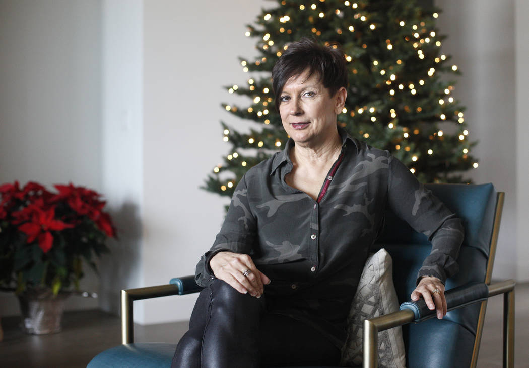 Karen Kaufman at her home in Las Vegas, Monday, Dec. 10, 2018. Kaufman has been diagnosed with stage four breast cancer and has been on immunotherapy for several years. Rachel Aston Las Vegas Revi ...