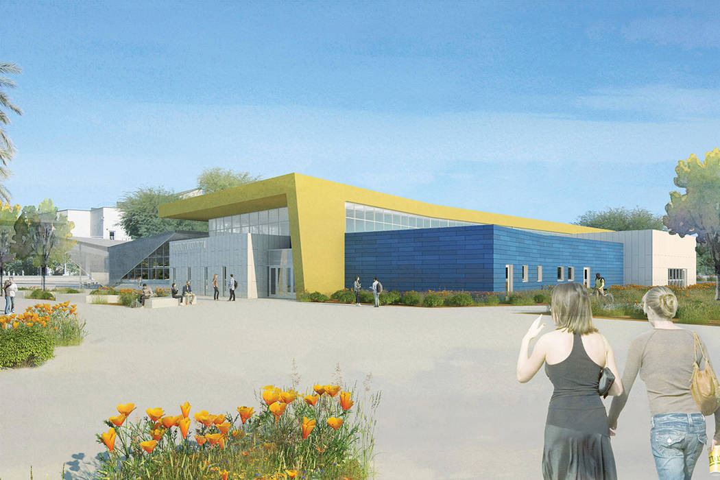 A rendering of the North Las Vegas campus student union under construction at the College of Southern Nevada. TSK Tate Snyder Kimsey.