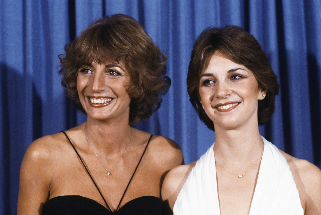 "Penny Marshal, left, and Cindy Williams from the comedy series ""Laverne & Shirley"" appear at the Emmy Awards in Los Angeles, Sept. 9, 1979. Marshall died of complications from diabetes on Monday, ..."