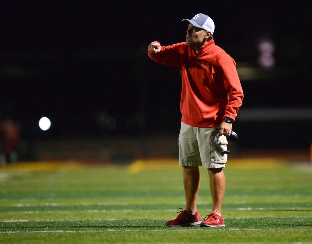 Arbor View head coach Dan Barnson. Brett Le Blanc/ Las Vegas Review-Journal