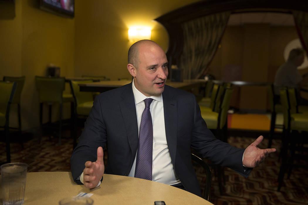 MattMaddox, CEO of Wynn Resorts Ltd., during an interview with Review-Journal reporter Rick Velotta on Monday, Feb. 19, 2018. Richard Brian Las Vegas Review-Journal @vegasphotograph
