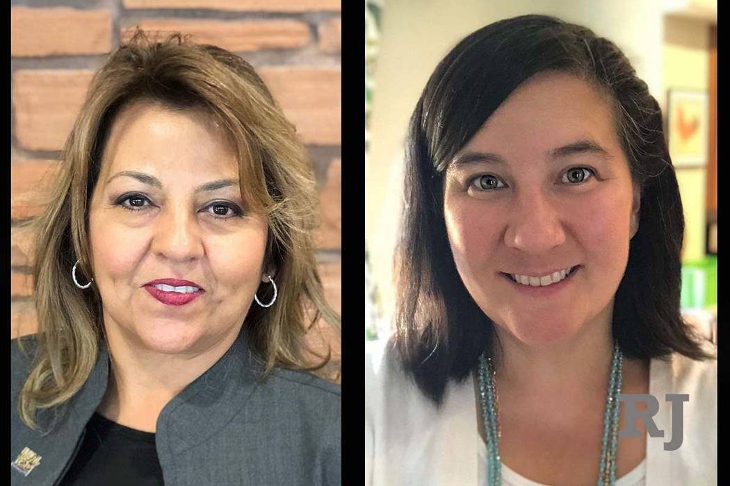 Beatrice Duran, left, and Rochelle Nguyen have been appointed by the Clark County Commission to vacanct seats in the Nevada Assembly, Tuesday, Dec. 18, 2018. (Photos from Culinary Union, One APIA ...