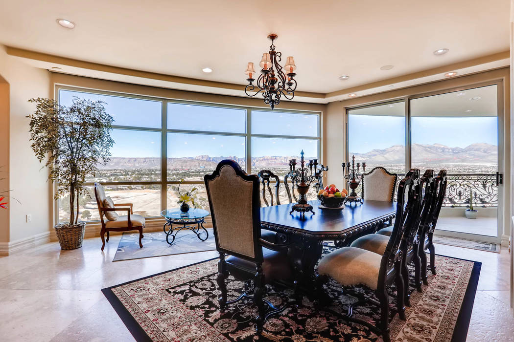 This 5,844-square-foot condo at One Queensridge Place - 9103 Alta Drive, unit 1501 - sold for $4.15 million in June. (Char Luxury Real Estate)