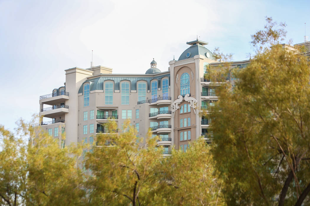 One Queensridge Place, seen Monday, Dec. 17, 2018, was home to one of the most expensive high-rise condo sales of the year in Las Vegas. Caroline Brehman/Las Vegas Review-Journal