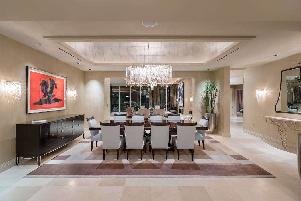 This 8,205-square-foot condo at Turnberry Place - 2777 Paradise Road, unit 3801 - sold for $5.5 million in August. (The Ivan Sher Group)