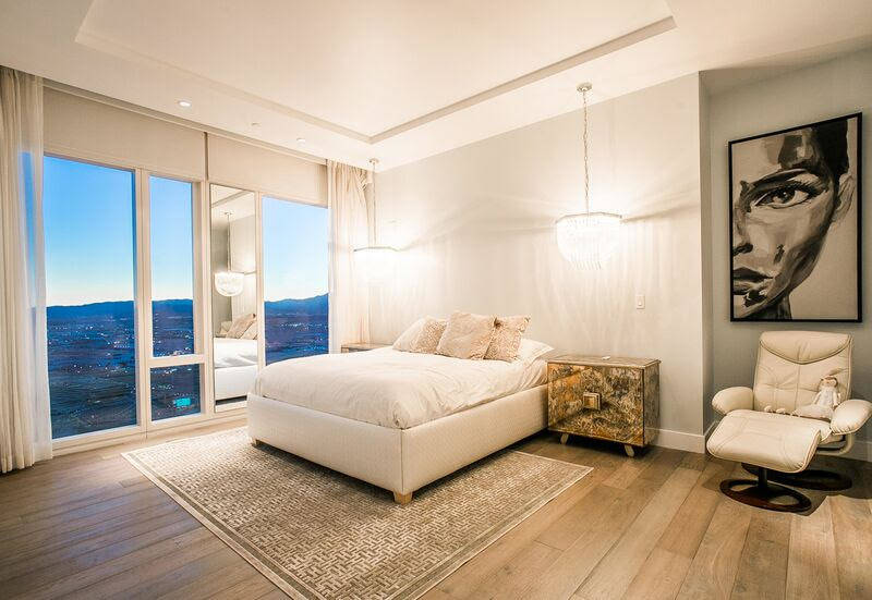This 2,247-square-foot condo at the Waldorf Astoria - 3750 Las Vegas Blvd. South, unit 4502 - sold for $3.6 million in December. (ML Properties)