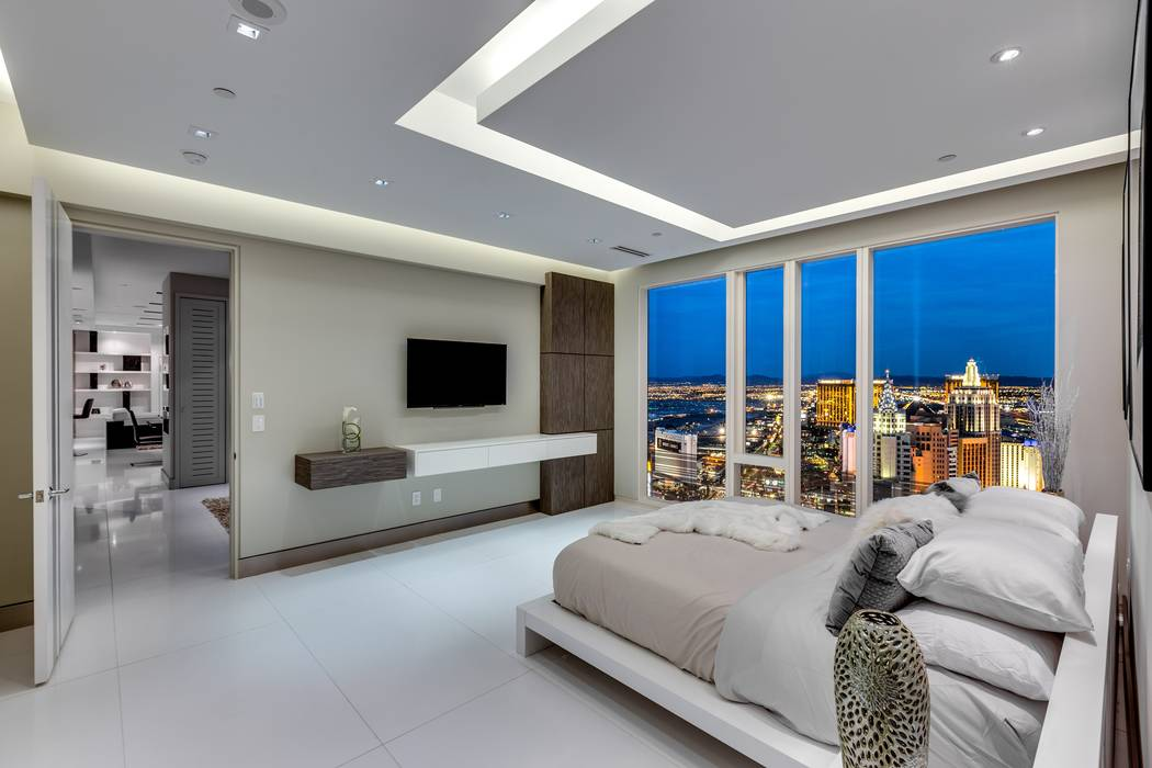 This 2,247-square-foot condo at the Waldorf Astoria - 3750 Las Vegas Blvd. South, unit 4102 - sold for $3.6 million in October. (Luxury Estates International)
